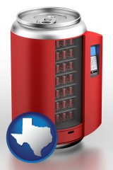 texas a stylized vending machine