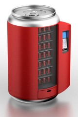 a stylized vending machine